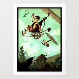 Flying Machine Art Print