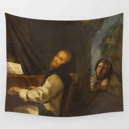 Eugne Delacroix - Charles Quint au monastre de Yuste Wall Tapestry