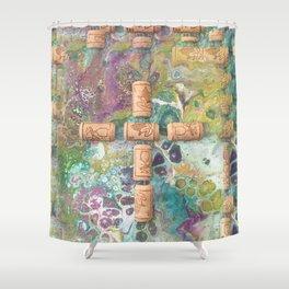 Cork Cross Shower Curtain