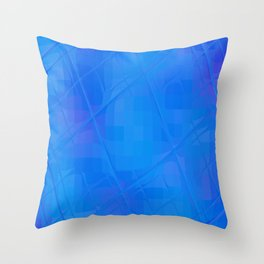 Re-Created Twisted SQ XLVI by Robert S. Lee Throw Pillow