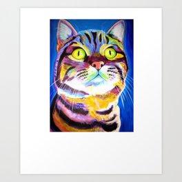 Cool Cat Art Shirt - Gift For Cat Lovers Art Print