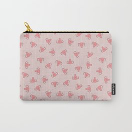 Crazy Happy Uterus in Pink, small repeat Carry-All Pouch