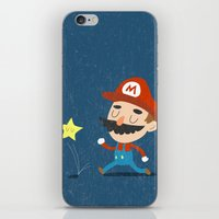 mario iPhone & iPod Skins featuring Mario by Rod Perich