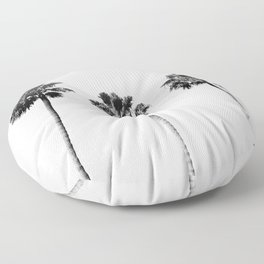 Black + White Palm Trees Floor Pillow