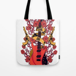 Guns and roses Tote Bag