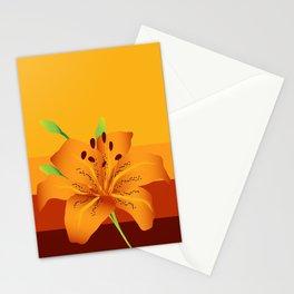 Orange Tiger Lily Stationery Cards