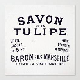 The Savon De La Tulipe Poster Canvas Print