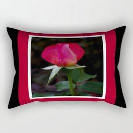 double delight rose bud (square) Rectangular Pillow
