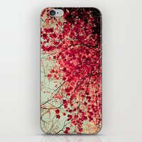 blood iPhone & iPod Skins featuring Autumn Inkblot by Olivia Joy StClaire