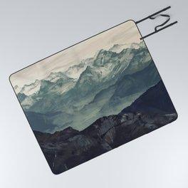 Mountain Fog Picnic Blanket
