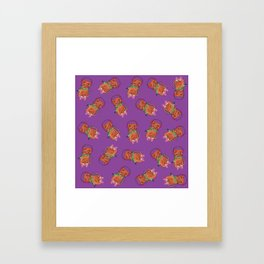 Holiday Winter Kitty Cats in Mittens and Scarf Framed Art Print
