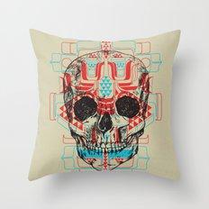 Skull Native Throw Pillow