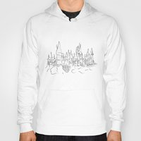 hogwarts Hoodies featuring Hogwarts Castle by Jessica's Illustrationart