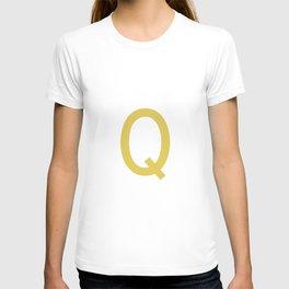 LETTER Q (GOLD-WHITE) T-shirt