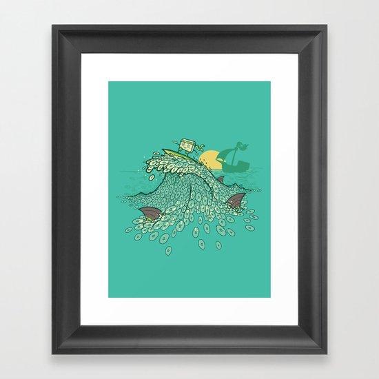 Surfin' Soundwaves Framed Art Print
