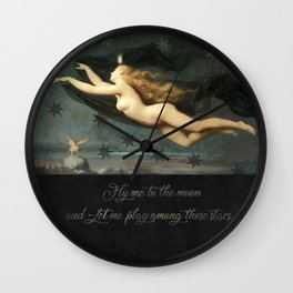 """""""Fly me to the moon"""" Wall Clock"""