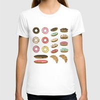 macaroons T-shirts featuring Pastry by Julia Badeeva