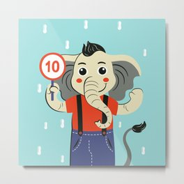 Hello children, says the elephant gives maximum rating Metal Print