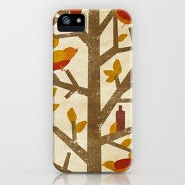 birds and wine iPhone Case