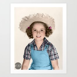 Shirley Temple - 1938 colorized Art Print