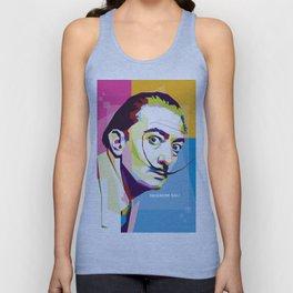 Salvador Dali in Pop Art Portrait Unisex Tank Top
