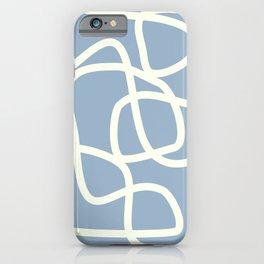 Maze in Gray Blue iPhone Case