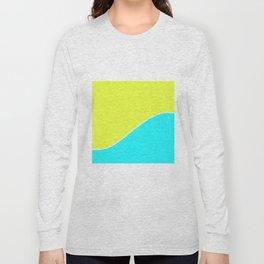 Bright lemon turquoise pattern . Long Sleeve T-shirt