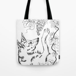 The Fox and Grapes Tote Bag