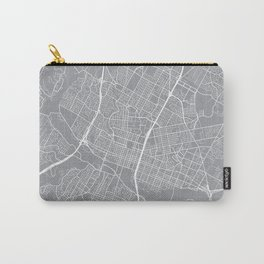 Austin Map, Texas USA - Pewter Carry-All Pouch