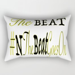 the beat Rectangular Pillow