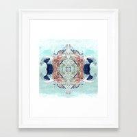 hokusai Framed Art Prints featuring Hokusai Mandala by PatriciaRoberta