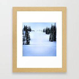 Fresh morning powder Framed Art Print