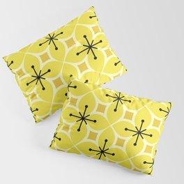 Retro MCM Flower Petals Yellow Pillow Sham