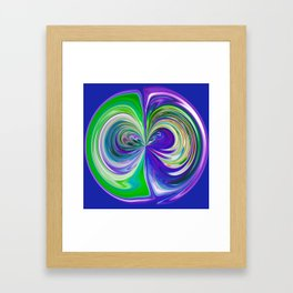 333 - Abstract Colour Orb Design Framed Art Print