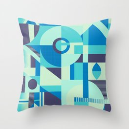 time fluidity Throw Pillow