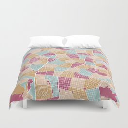 Habana map Duvet Cover