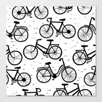 bikes Canvas Prints featuring Bikes by sarknoem