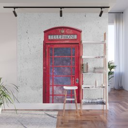 Telephone Box Portal London England Wall Mural