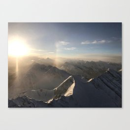 K Country Mountain Sunrise Canvas Print