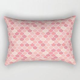 Mermaid Blush Pattern Rectangular Pillow