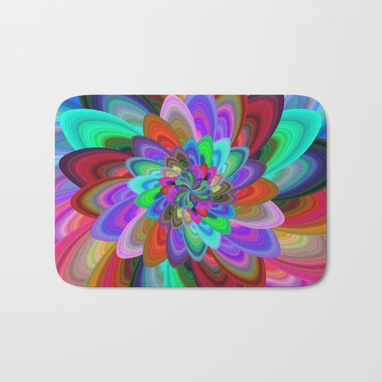 Crazy flower Bath Mat