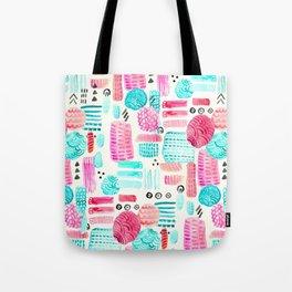 Dots, Circles and Dashes Tote Bag