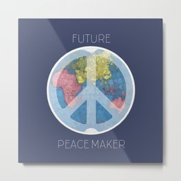 Future Peace Maker Metal Print