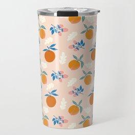 Orange Peach Travel Mug