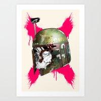 boba fett Art Prints featuring Boba Fett by efan