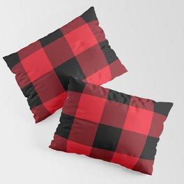 Big Red and Black Buffalo Plaid Pillow Sham