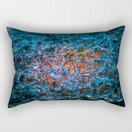 Water Color - Orange Rectangular Pillow