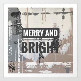 Snowfall - merry and bright Art Print