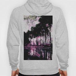 Monet Poplars on the Banks of the River Epte Pink Dark Hoody