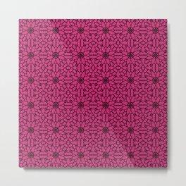 Pink Yarrow Lace Metal Print